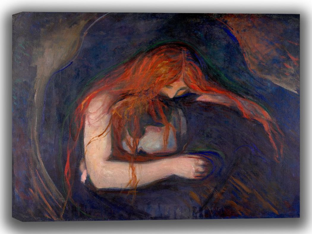 Munch, Edvard: Jealousy. Fine Art Canvas. Sizes: A4/A3/A2/A1 (0075)